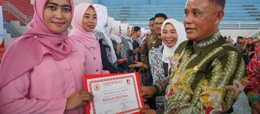 Nanang Ermanto Hadiri Pengukuhan Bidan Delima Kabupaten Lampung Selatan