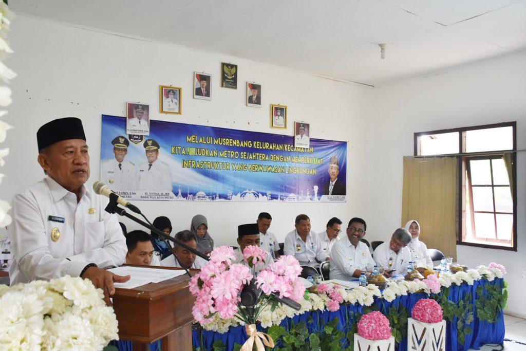 Wakil Walikota Metro Musrenbang Di Kelurahan Mulyosari