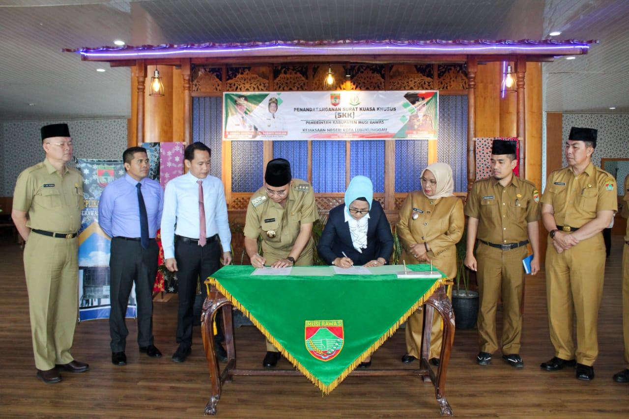 Bupati Musi Rawas Apresiasi Kejari Lubuk Linggau Dalam Memaksimalkan Pendapatan Asli Daerah
