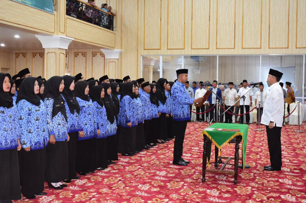 Bupati Hendra Gunawan Lantik 147 CPNS Kabupaten Musi Rawas